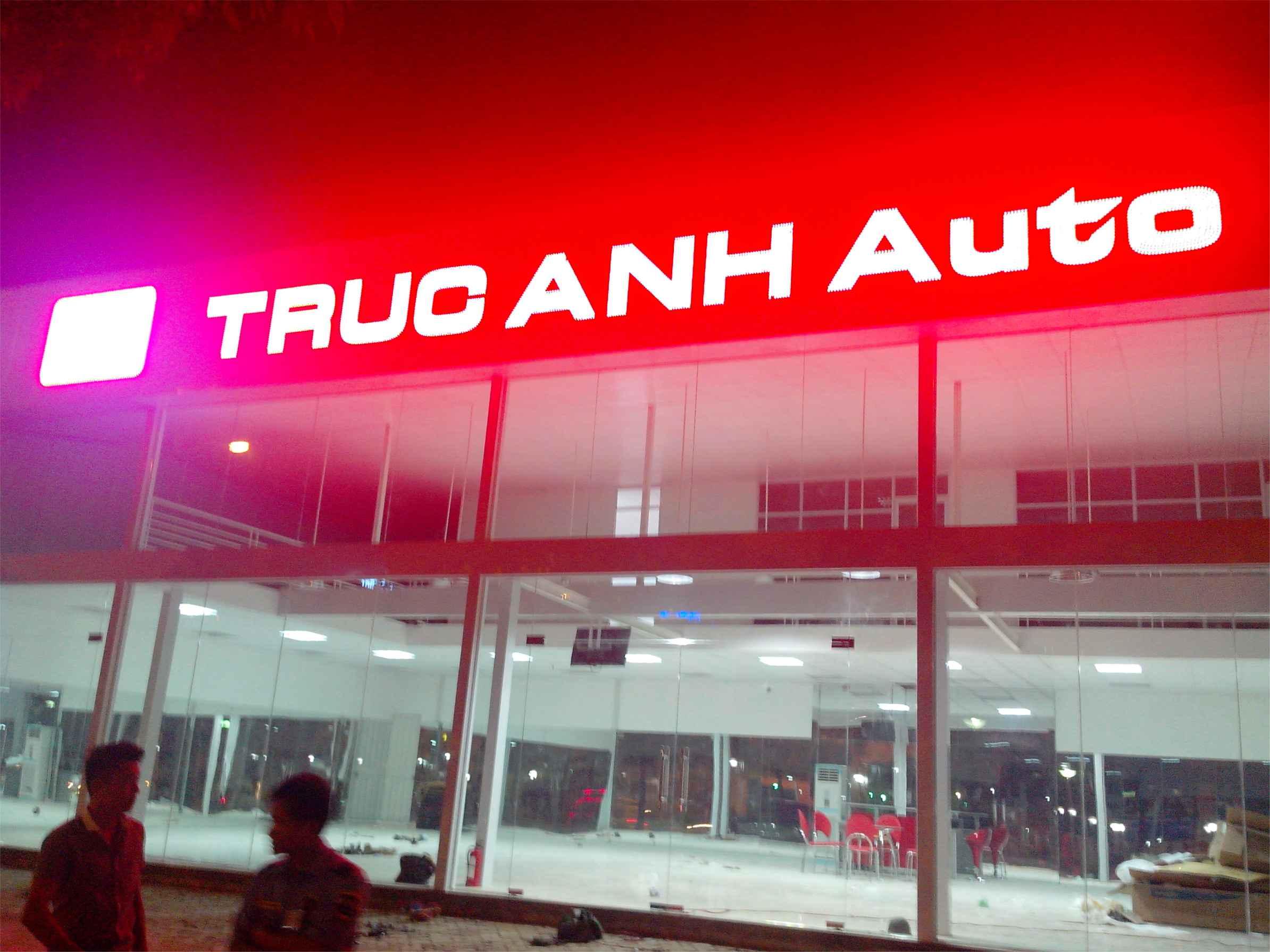 Biển quảng cáo cho gara oto Auto