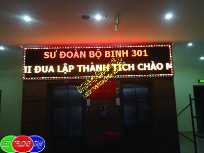 Thi công biển led chạy chữ ma trận 3 màu cho sư đoàn bộ binh 301 - Xala - Hà Đông - Hà Nội 2018
