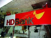 Bộ chữ bảng biển quảng cáo ngân hàng HD Bank 2010