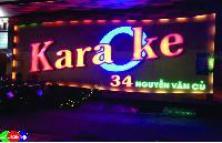 Thi công biển quảng cáo, led trang trí quán Karaoke sàn nhảy